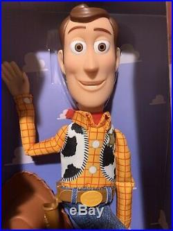 Toy Story Sheriff Woody Press My Tummy Talking Action Figure Doll Soft Body, NIB