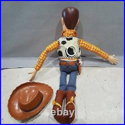 Toy Story Sheriff Woody Pull String Talking Doll theres a snake boot. Orign
