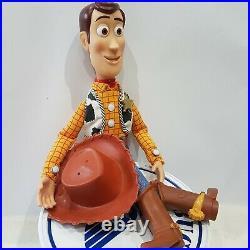 Toy Story Talking Pull String Sheriff Woody & Hat Thinkway Toys Disney Pixar