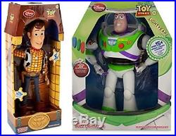 Toy Story Talking Woody Action Buzz 12-16inch Disney Figure Pixar Doll Rex Gift