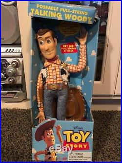 Toy Story Talking Woody Sealed Inside Box Non Working 1995 Disney Thinkway Toys