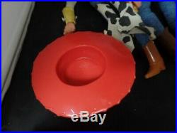 Toy Story Talking Yodel Jessie Woody Push Button Dolls Used WORKING THINKWAY