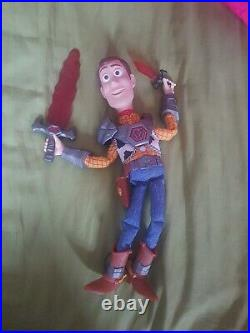 Toy Story That Time Forgot BATTLESAURS WOODY Talking DOLL Thinkway RARE Figure