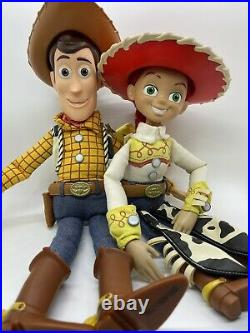 Toy Story WOODY & JESSIE Pull-String Talking Doll Cowboy Hat- ANDY On Boot