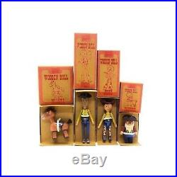 Toy Story Wooden Doll Complete Set Woody Jessie Prospector Bullseye Young Epoch