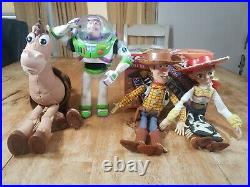 Toy Story Woody, Jessie, Bullseye & Buzz Lightyear 16 Pull String Talking Dolls