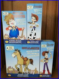 Toy Story Woody Jessie Prospector Bullseye Roundup Figure Doll Disney Japan Used