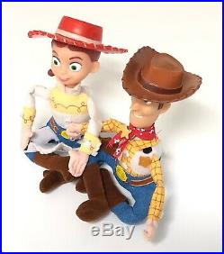 Toy Story Woody & Jessie Vibrating Pull Toy Dolls (unidentified)