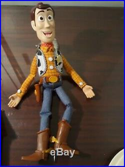Toy Story Woody Pull String Doll 15 Talking Disney's doll no hat Excellent