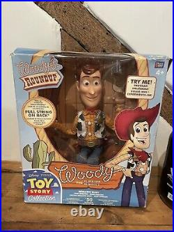 Toy Story Woody Roundup Talking Pull String Doll in BOX Original RARE