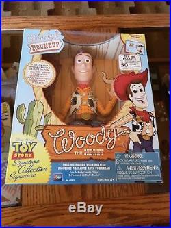 Toy Story Woody Roundup Talking Sheriff Signature Collection Damaged Box