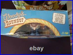 Toy Story Woody's Roundup Talking Sheriff Woody + Bullseye Signature Collection