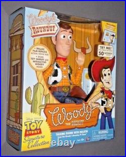 Toy Story Woody's Roundup Talking Sheriff Woody Doll
