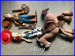 Toy Story talking dolls Woody, Jessie & Bullseye