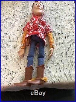 Used Disney Store Toy Story WOODY Hawaiian Vacation 16 Talking Pull-String Doll