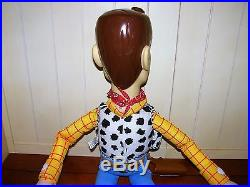 Used Vintage Disney Toy Story Large Woody Doll 32 & Large Buzz Lightyear 26