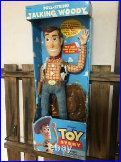 Vintage 1995 Disney Pixar Toy Story Poseable Pull-String Talking Woody Doll VHTF