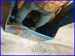 Vintage 1995 Disney Pixar Toy Story Poses Tirar Cuerda Habla Woody Doll Modelo