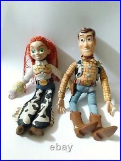 Vintage 1995 Disney Pixar Toy Story Pull String Talking Woody Original withJessie