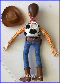 Vintage 1995 Disney Pixar Toy Story Pull String Talking Woody Thinkway Original