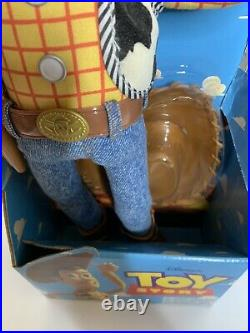 Vintage 1995 Disney Toy Story Pull-String Talking Woody Doll Thinkway New In Box