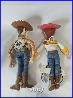 Vintage 1995 Thinkway Toy Story Disney Pixar Pull-String Talking Woody and Jesse