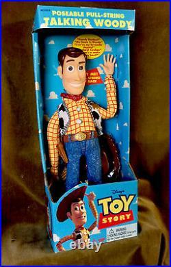 Vintage 1995 Toy Story DISNEY PIXAR Original Pull-String TALKING WOODY Doll