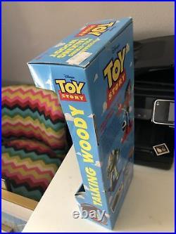 Vintage 1995 Toy Story DISNEY PIXAR Original Pull-String TALKING WOODY Thinkway