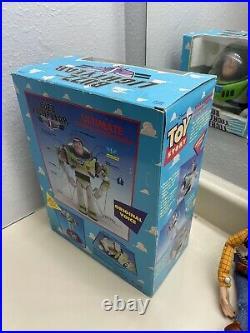 Vintage 1995 Toy Story DISNEY PIXAR Original Pull-String WOODY & New BUZZ BUNDLE