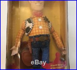 Vintage 1999 RARE Disney Pixar TOY STORY 2 Special Edition WOODY figure! NIB
