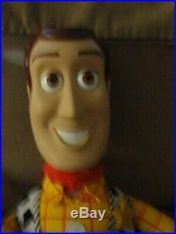 Vintage Disney Large Toy Story Woody Doll 32 WITH BONUS WOODY GUITAR! -CLEAN