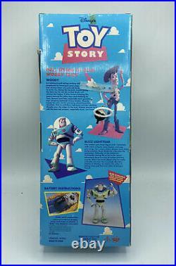 Vintage Disney Pixar 1994 Toy Story Pull-String Talking Woody Thinkway Toys