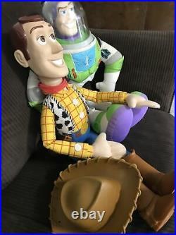 Vintage Disney Pixar Toy Story Large Woody Doll 32 and Large Buzz Lightyear 26