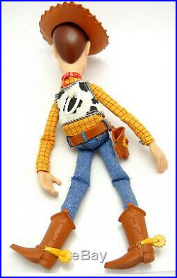 Vintage Disney Thinkway 15 Inch Talking Woody Pull String Doll Toy Story & Hat