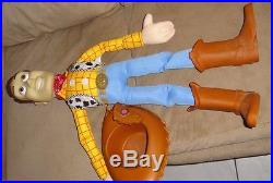 Vintage Disney Toy Story Large Woody Doll 32 & Large Buzz Lightyear 26