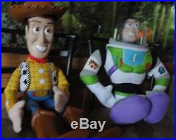 Vintage Disney Toy Story Large Woody Doll 32 & Large Buzz Lightyear 26-CLEAN