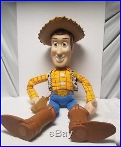 Vintage Disney Toy Story Large Woody Doll 32 has some paint and scratche's