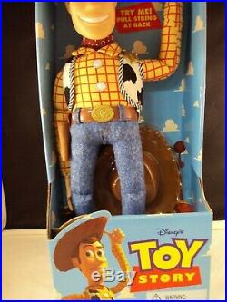 Vintage Toy Story Woody Doll in Box Pull String Disney Thinkway A3