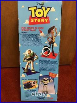 Vtg. NIB Disney Pixar Toy Story Pull String Talking Woody Thinkway 62943 Works