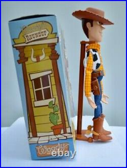 WOODY The Sheriff- TOY STORY Woody's Round-Up Talking Pull-String Doll Figure