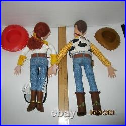 Woody & Jessie Toy Story Talking Pull String 16 & 15 Dolls Thinkway Toys