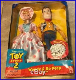 Woody & Little Bo Peep Toy Story 2 Doll Gift Set 1999 NEW in bad shape box