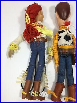 Woody ThinkWay & Jessie Toy Story Pull String Doll Talking 16 Free Ship