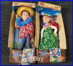 Woody and Jessie Toy Story Hawaiian Vacation Dolls Pixar Disney (Rare)