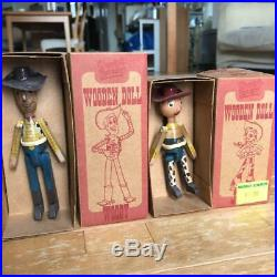 Young Epoch Toy Story 2 Woody & Jessie Roundup Wooden Doll set Used