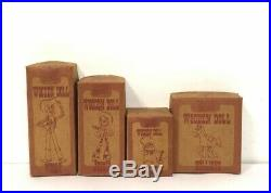 Young Epoch Toy Story Wooden Doll Woody/Jessie/Prospector/Bullseye Complete Set